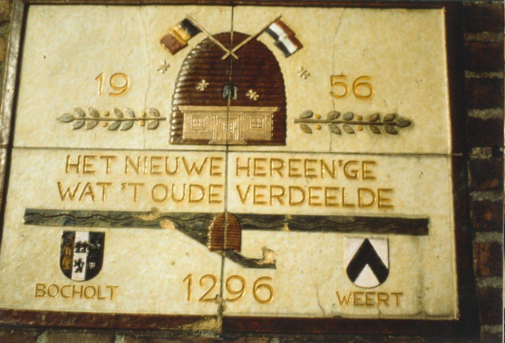 Tegeltableau op het voormalige douanekantoor op de grens van Bocholt en Weert