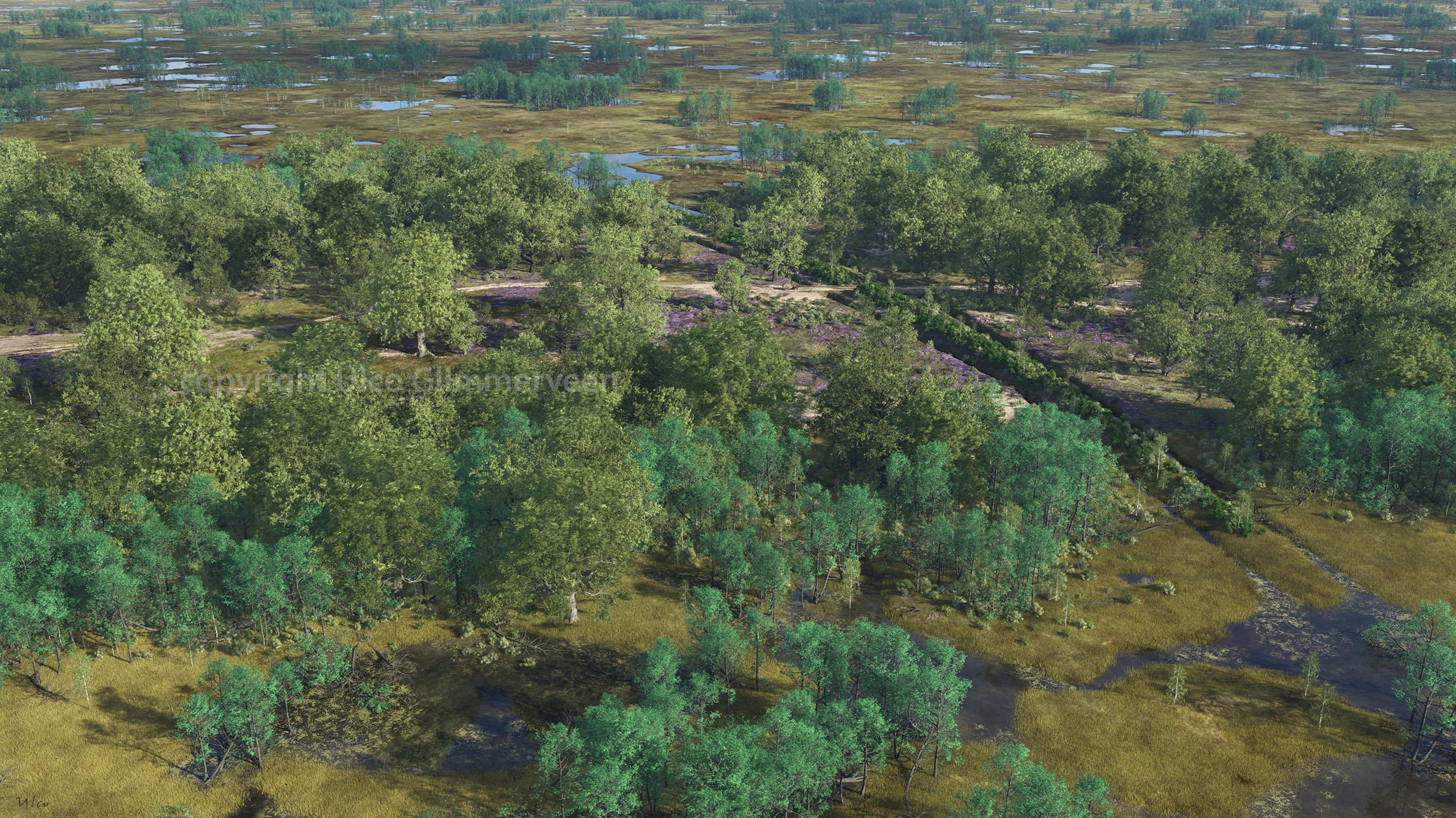 Virtuele blik op de Bocholter Graven in 1389.