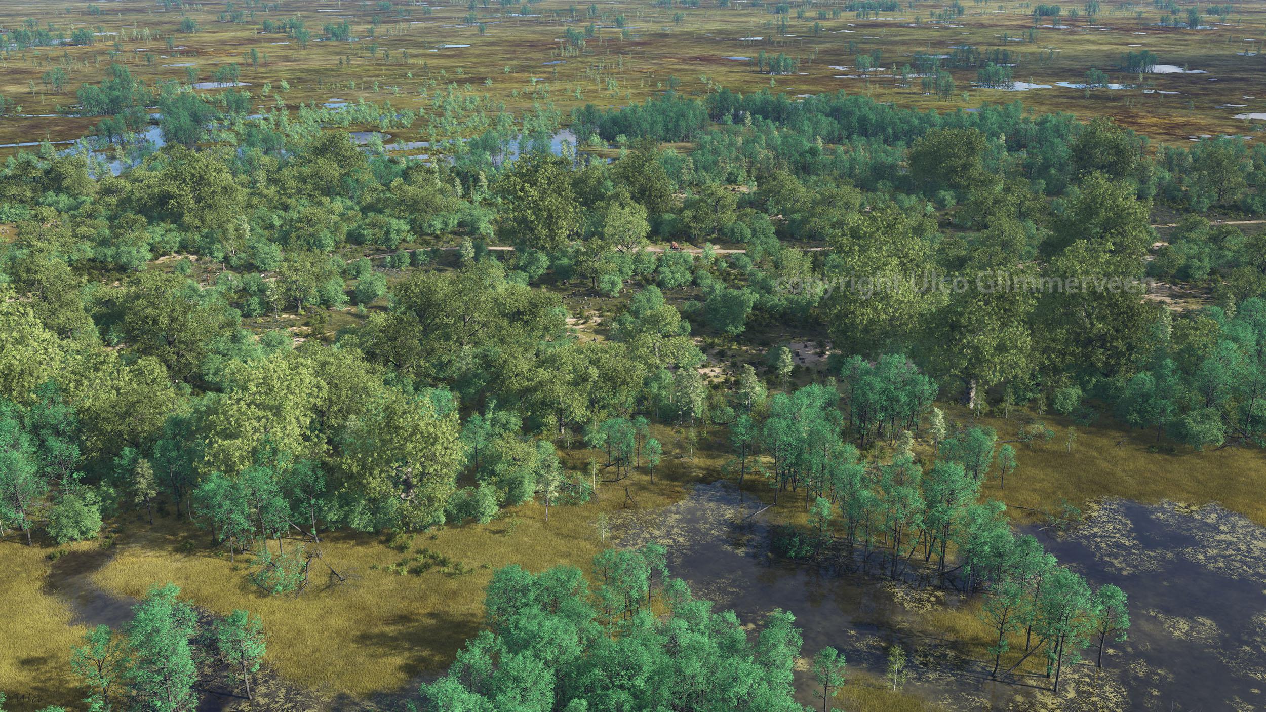 Virtuele blik op de Bocholter Graven in de 19e eeuw.
